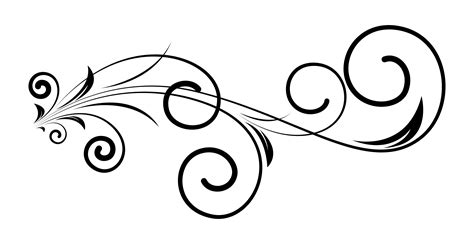 decorative design elements vector pin swirly elements curved lines ornate graphics and