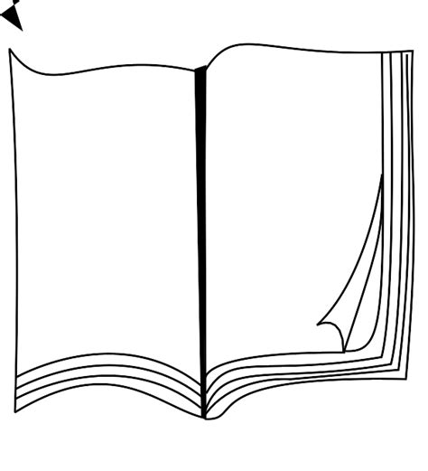 Outline Of A Open Book by Book Outline Clip 47