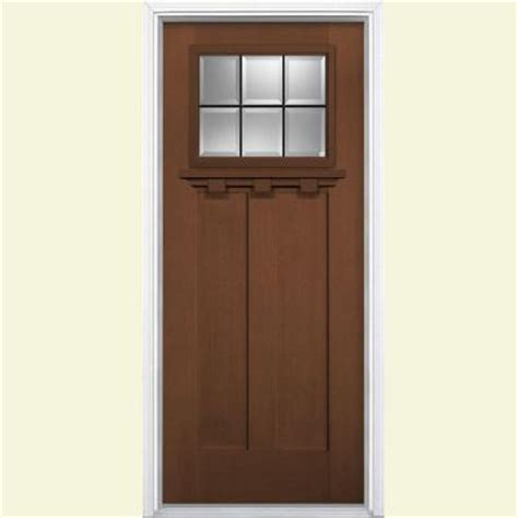 Fiberglass Exterior Doors Home Depot Masonite 36 In X 80 In Oaklawn 6 Lite Fir Grain