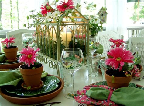 Garden Table Setting Ideas A Garden Table Setting Tablesscape