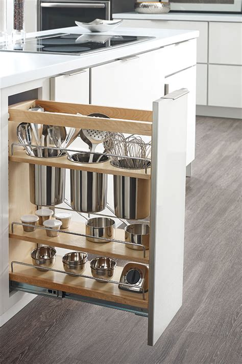 pull outs for kitchen cabinets base utensil pantry pullout cabinet schrock cabinetry