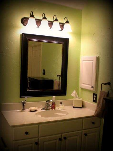 Diy Bathroom Mirror Ideas House Remodel Ideas Diy Wall Decor Modern Bathroom With F Lighting And Black Mirror Frame White