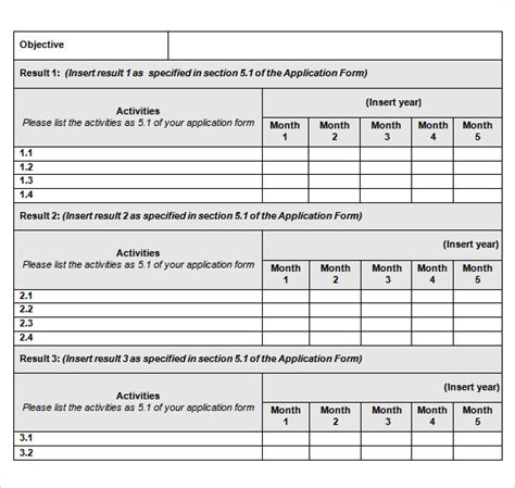 work plan template word sle work plan 11 documents in pdf word