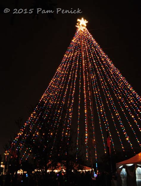 zilker holiday tree lights austin skyline again