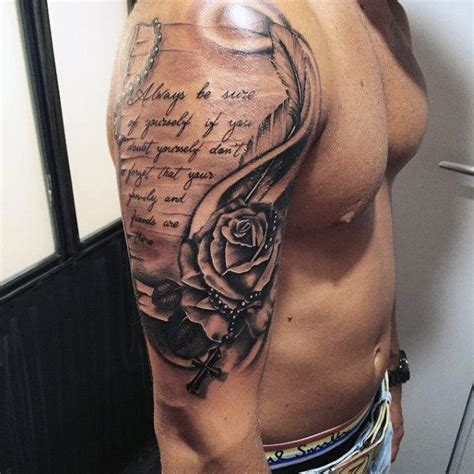 religious tattoo designs for men arms 100 rosary tattoos for sacred prayer ink designs