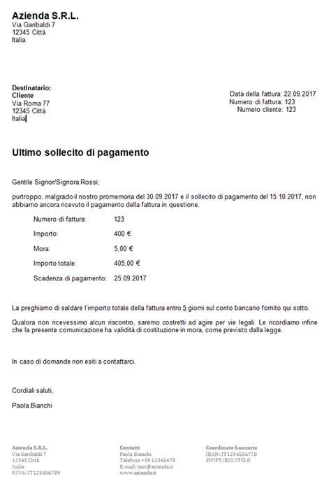 lettere di sollecito pagamento scrivere un sollecito di pagamento come funziona 1 1