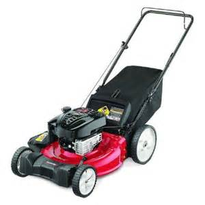 push lawn mowers at home depot yard machines reconditioned 21 in 190cc walk gas