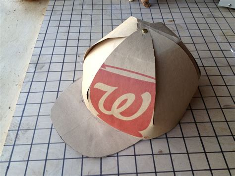 How To Make A Baseball Out Of Paper - paper bag cap diy