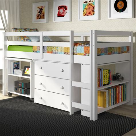 low bunk beds furniture light wood bunk bed with drawers and ladder for