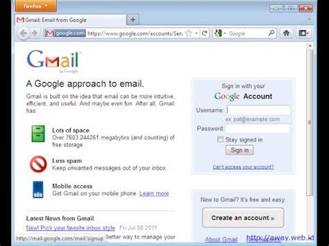 kenapa susah membuat akun gmail cara membuat akun gmail daftar gmail youtube
