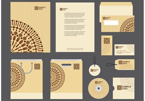 company profile design unik morocco motif company profile template vector download