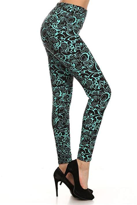 teal patterned leggings 10 amazing winter leggings to keep you warm