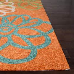 Orange Outdoor Rugs by Jaipur Rugs Blossomed 5 X 7 6 Indoor Outdoor Rug