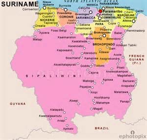 suriname south america map map of suriname republic of suriname maps mapsof net