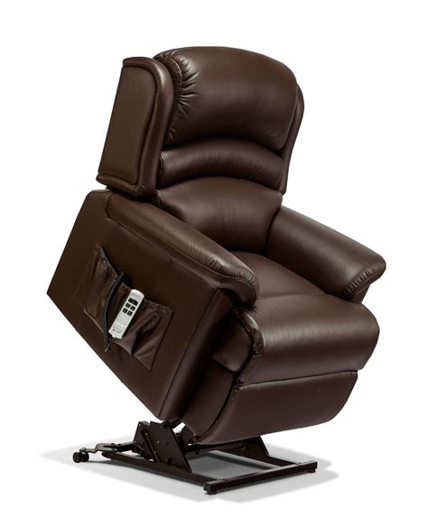 small lift chair recliners olivia small leather electric riser recliner sherborne