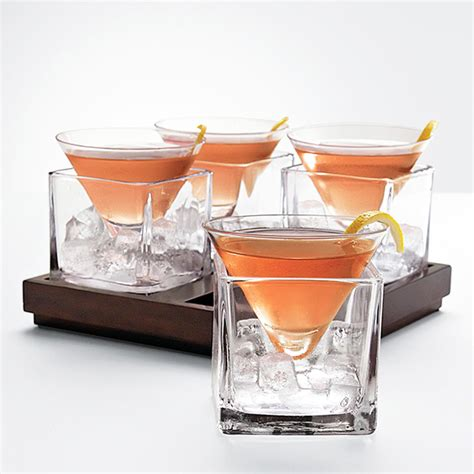 interesting cocktails cubist martini glass set