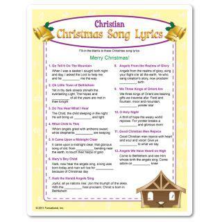 printable christian christmas games for adults christmas songs lyrics christian christmas and song