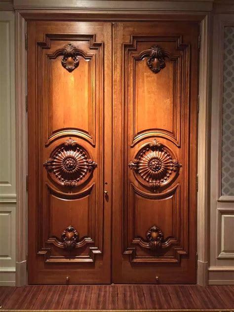 pin  kelvin  wood doors double door design