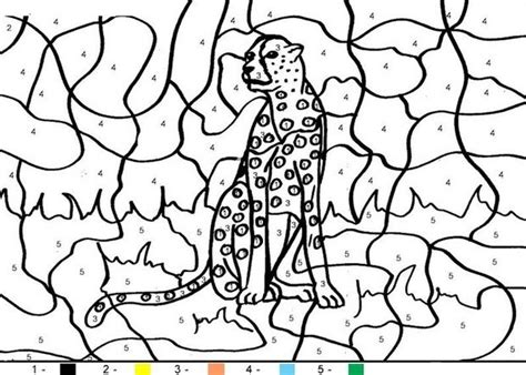 color by number animal coloring pages tiger coloring pages hellokids com
