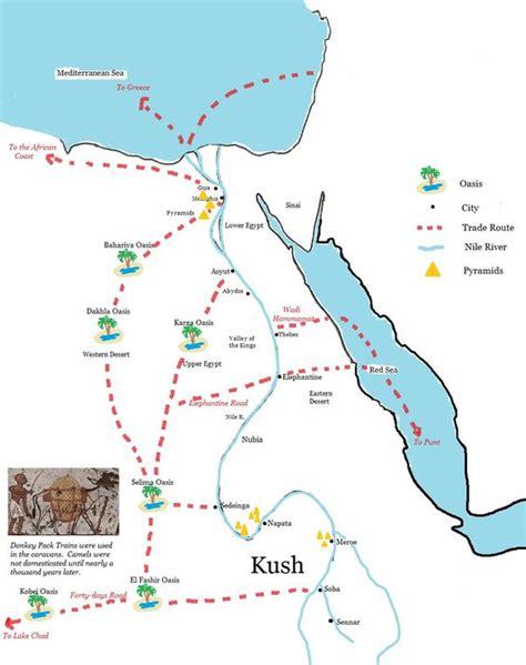 africa map kush kingdom of kush ancient trade routes layers of