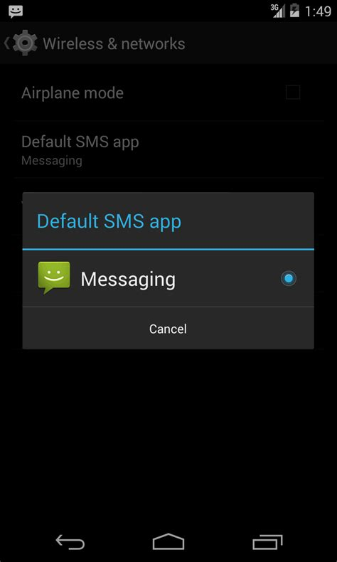 set default app android how to set my sms app default in android kitkat