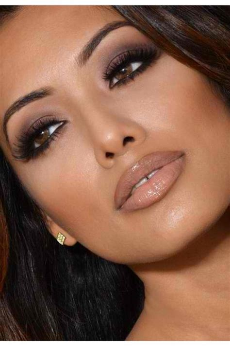 natural makeup tutorial for olive skin wedding makeup for brown eyes and brown skin vizitmir com