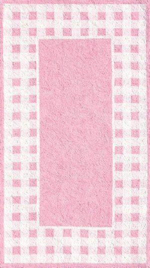 White And Pink Rug by Pink And White Gingham Border Rug The Frog And The Princess