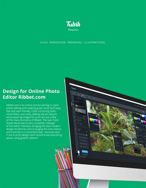 design online editor design for online photo editor ribbet com on behance