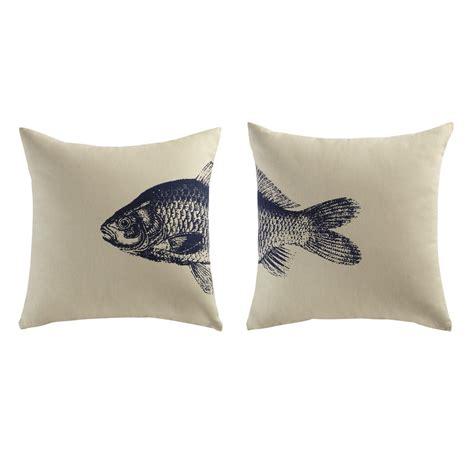 Bien Coussins Pour Chaises De Jardin #3: 2-coussins-en-coton-beige-bleu-40-x-40-cm-fish-1000-2-0-156538_4.jpg