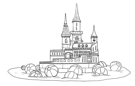 castle moat coloring page drawn castle moat drawing pencil and in color drawn