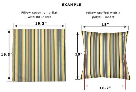Standard Pillow Measurements by Pillow Size Pillow Decor