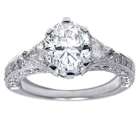 vintage white gold engagement rings classical and