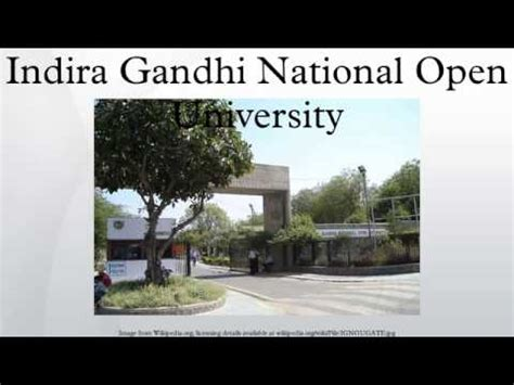 Indira Gandhi Open Mba Distance Education by Indira Gandhi National Open