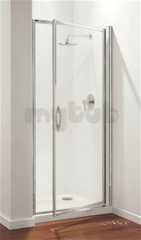 Plain Glass Door Premier Pivot Door 900mm White Plain Glass Door Only Coram