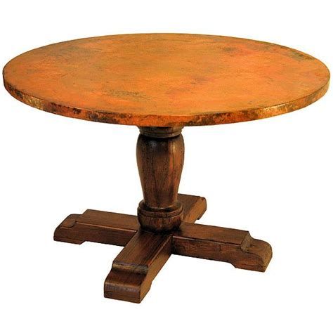 Copper Kitchen Tables Copper Collection Wooden Pedestaldining Table Cdt 40