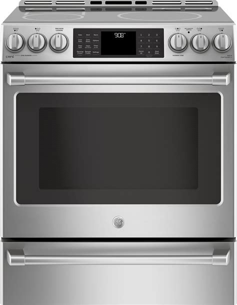 ge electric induction range chs985selss ge cafe 30 quot slide in induction electric range stainless steel