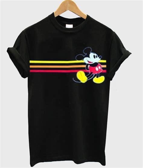 Mickey Hoodie Stripe mickey mouse stripe t shirt
