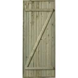 porte de service bois sapin classe 3 poussant gauche h