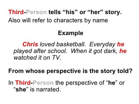 Third Person Narrative Essay by 1st 3rd Person Narrative Classslides