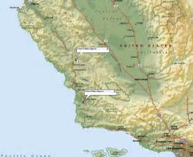 of california santa map santa ca map my
