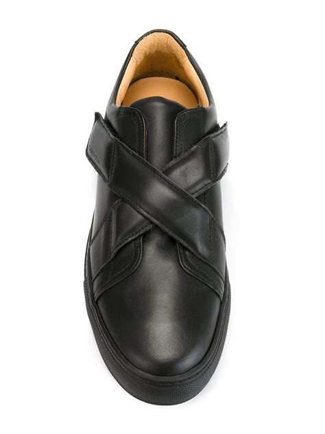 sneakers with velcro straps carven velcro straps sneakers in black for lyst
