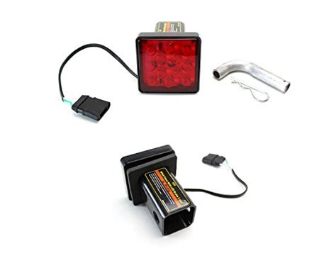 trailer hitch cover with 12 led brake light ijdmtoy 12 led super bright brake light trailer hitch