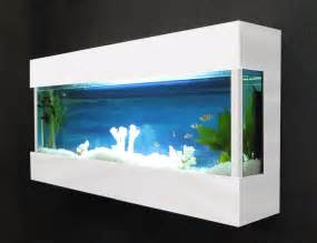 about DESIGNER WALL MOUNTED AQUARIUM / GLASS FISH TANK fj2white