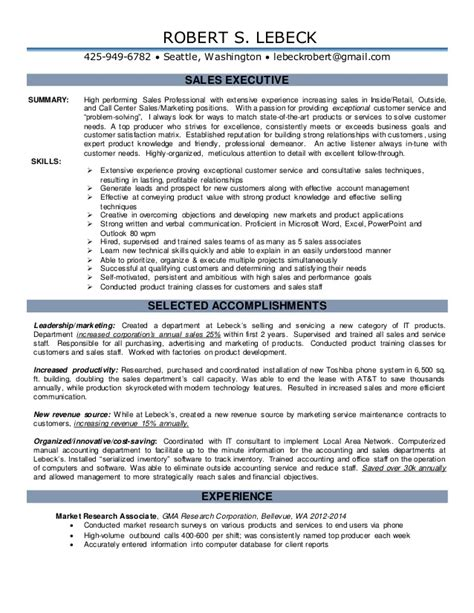 New Resume Sles 2015 New Sales Resume With All Achievements Included