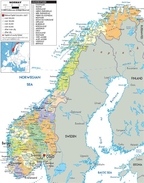 all cities in map large detailed political and administrative map of