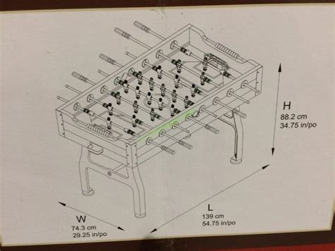 vintage foosball table costco costco 1063755 vintage foosball table size costcochaser