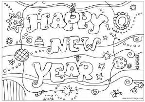 new years eve coloring pages free printable 2017 happy new