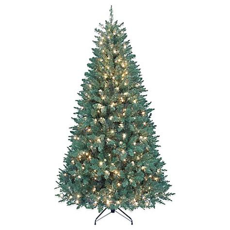 kurt adler 7 foot pre lit point pine christmas tree bed