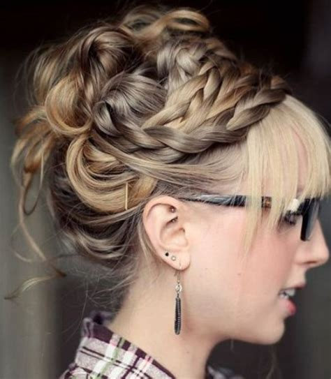 intricate prom hair 20 messy bun hairstyles for prom