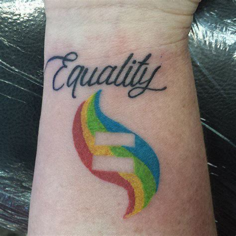 equality symbol tattoo 25 best ideas about equality tattoos on